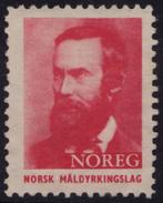 Poet Aasmund Olavsson 1956 NORWAY Charity Stamp Label Cinderella Vignette / NOREG Norsk Måldyrkingslag
