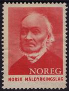 Poet Ivar Aasen 1956 NORWAY Charity Stamp Label Cinderella Vignette / NOREG Norsk Måldyrkingslag