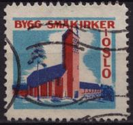 CHURCH Building Charity Stamp - NORWAY Label Cinderella Vignette / Oslo