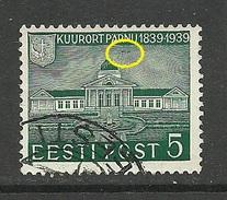 Estland Estonia Estonie 1939 Kurort Pärnu Pernau Michel 151 ERROR Abart O