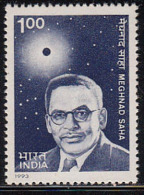 India MNH 1993, Meghnad Saha, Physicist, Science, Eclipse & Sun, Astronomy, Physics, - Ongebruikt