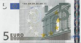 VF NOTA DE 5 EUROS DE PORTUGAL U 001 --A1 UNC - EURO