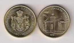 Serbia 5 Dinara  2012. BU / UNC - Serbie