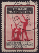 Norwegian Cancer Society - 1943 NORWAY - Used LABEL CINDERELLA VIGNETTE / CHARITY STAMP
