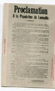 CPA   54  :  LUNEVILLE   Proclamation         A   VOIR   !!! - Luneville