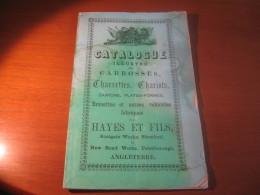 CATALOGUE ILLUSTRE CARROSSES CHARRETTES CHARIOTS  1867 - Publicidad