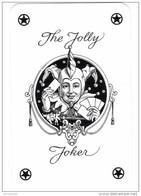 The Jolly Joker - Noir écrit En Noir écriture Cursive Avec 4 étoiles Noires - Verso Rouge Le Bridgeur - Cartes à Jouer Classiques