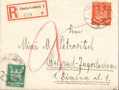 REGISTERED CVR TO BELGRADE,SERBIA 1924