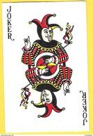 Joker Avec Sceptre Et Index Vers Le Haut - Lettres Noires - Speelkaarten