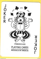 Joker Clown Jongleur - Poker Size Regular Index - Noir Et Blanc - Cartes à Jouer Classiques