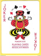 Joker Clown Jongleur - Poker Size Regular Index - Couleurs - Cartes à Jouer Classiques