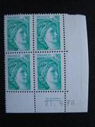 France. Coin Daté 21/09/1978. YT. 1967 **. Sabine De David.
