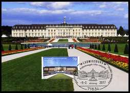 80471) BRD - MK 01/2017 = Michel 3285 - 71634 LUDWIGSBURG Vom 09.02.2017 - Aufl: 2.500 - Schloß Ludwigsburg - Maximum Cards