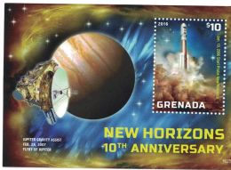 [D*] Grenada - 2016 Space New Horizons - S/S MNH
