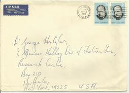 Lettre 1965  Nouvelle Zélande Destination USA (thématique Churchill ) Non Philatélique