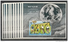 10x TCHAD - Sport - Football - Mexico - Championat Du Monde Football - 1970 - CTO - Imperf.