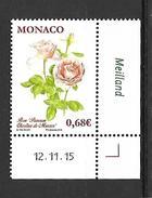 Monaco 2015 - Yv N° 3007 ** - ROSE PRINCESSE CHARLENE - Unused Stamps