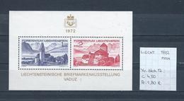 Liechtenstein 1972 - Yv. Blok 12 Postfris/neuf/MNH
