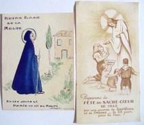 SCOUTISME -   IMAGE RELIGIEUSE THEME SCOUTISME - LOT DE DEUX - Scoutisme