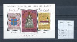 Liechtenstein 1985 - Yv. Blok 15 Postfris/neuf/MNH