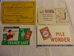 4 Buvards -liebig-lait-pile Wonder-assurance - Blotters