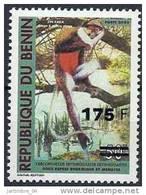 2005-2006 BENIN Michel 1373** Singe, Surchargé 175/50