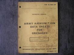 "Livre Sur Les Grenades Américaines "" OCTOBER 1977 "" - Sammlerwaffen"