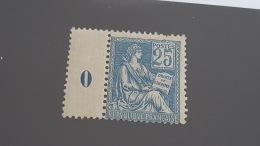LOT 344657 TIMBRE DE FRANCE NEUF** N°114 VALEUR 375 EUROS