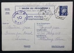 Entier Postal Pétain Salon Du Prisonnier Noël 1941 > Prisonnier De Guerre STALAG IV E Obl Roisel CP N°13