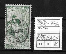 25 JAHRE WELTPOSTVEREIN  ►SBK-77A, GOLDACH 26.XII.00◄ - 1882-1906 Coat Of Arms, Standing Helvetia & UPU