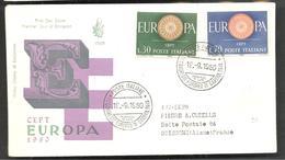 FDC  EUROPA  1960 - Italia