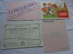 4 Buvards -librairie Joseph Gibert-assurance-volacrine Synbiodyn Poussins Enfants Illustrateur A Identifier - Blotters