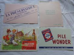 4 Buvards -librairie Joseph Gibert-assurance-wonder-volacrine Synbiodyn Poussins Enfants Ill. A Identifier Lavauzelle - Buvards, Protège-cahiers Illustrés