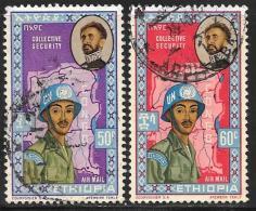 Ethiopia, Scott # C72-3 Used Soldier, Map,1962 - Ethiopia
