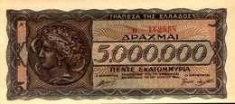 GRECE  5000000 DRACHME  Du 20-7-1944  Pick 128  UNC/NEUF - Greece