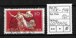 1919 FRIEDENSMARKEN → SBK-144, LOTZWIL 14.IV.20 - Gebraucht