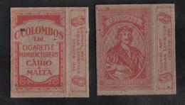 COLOMBOS   LTD.CAIRO MALTA  PACKET OF 10 CIGARETTE - 1910 VERY RARE - - Empty Cigarettes Boxes