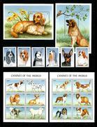 Nevis 2000 6v+2S/S+2M/S Animals Mammals Dogs Perf MNH