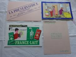 4 Buvards -librairie Joseph Gibert-assurance--lait-confort Electrique Par Bellus - Buvards, Protège-cahiers Illustrés