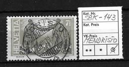 1919 FRIEDENSMARKEN → SBK-143, MENDRISIO 31.VIII.19 - Gebraucht