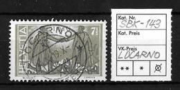 1919 FRIEDENSMARKEN → SBK-143, LOCARNO 14.X.19 - Gebraucht