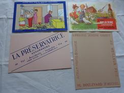 4 Buvards -librairie Joseph Gibert-assurance-confort Electrique Par Bellus-le Vrai Volacrine Poussins Enfant - Buvards, Protège-cahiers Illustrés