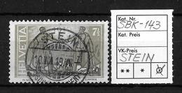 1919 FRIEDENSMARKEN → SBK-143, STEIN 10.VIII.19 - Gebraucht