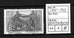 1919 FRIEDENSMARKEN → SBK-143, THUN-BEATENBUCHT-INTERLAKEN 27.VIII.19 - Gebraucht