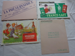 4 Buvards -librairie Joseph Gibert-assurance-lait--le Vrai Volacrine Sauve Les Volailles Poussins Enfant - Blotters