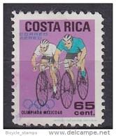 1968 COSTA RICA   Vélo Cycliste Cyclisme Bicycle Cycling Fahrrad Radfahrer Bicicleta Ciclista Ciclismo [cu63]