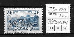 1914-1931 GEBIRGSLANDSCHAFTEN → SBK-178, ST.GALLEN 5.III.30 - Gebraucht