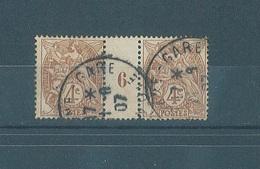 Frankreich MiNr 89 Mit Zwischensteg (12835)
