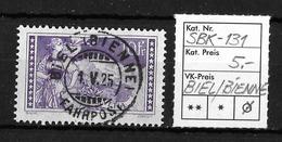 1914-1931 GEBIRGSLANDSCHAFTEN → SBK-131, BIEL / BIENNE 1.V.25 - Gebraucht