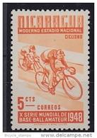 1948 NICARAGUA   ** MNH Vélo Cycliste Cyclisme Bicycle Cycling Fahrrad Radfahrer Bicicleta Ciclista Ciclismo [cu16]